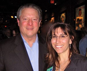 Maura Thomas with Former Vice President Al Gore at The Climate Project
