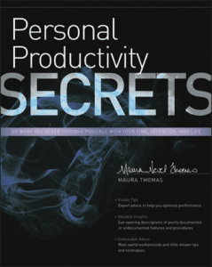 Personal Productivity Secrets book by Maura Thomas