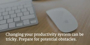 Maura Nevel Thomas article on making a new productivity system stick.