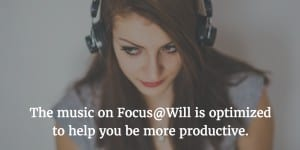 Productivity expert Maura Nevel Thomas recommends Focus@Will to tune out distractions at work.