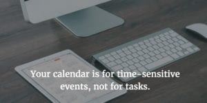 Productivity expert Maura Nevel Thomas says it's inefficient to schedule tasks on your calendar.