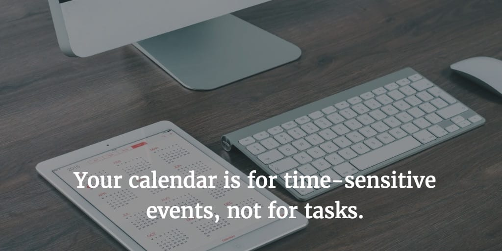 Should You Schedule Tasks on Your Calendar?