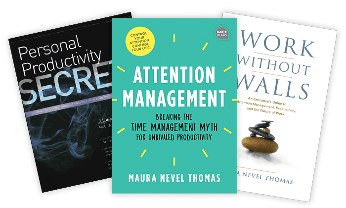 Productivity books by Maura Thomas