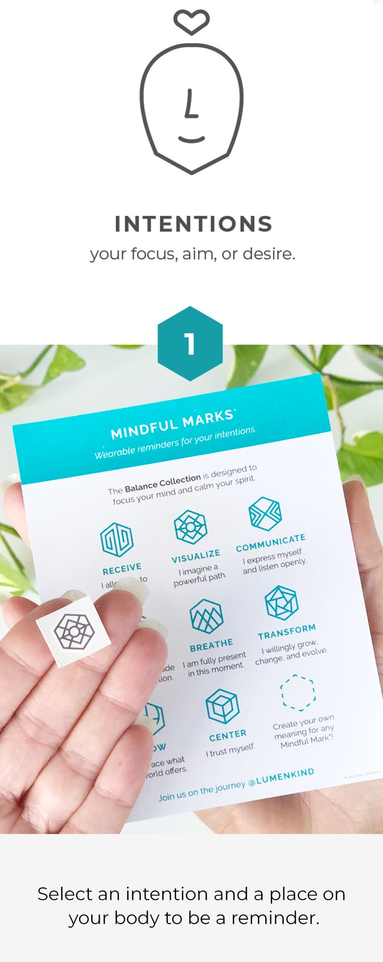 How to apply Mindful Marks part 1
